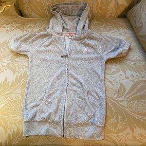 Juicy Couture Girls Grey Terry Hoodie 7